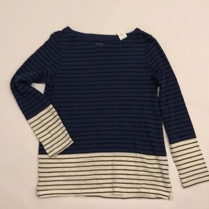 NEW W/ TAGS-GAP Blue, White and Black striped tee